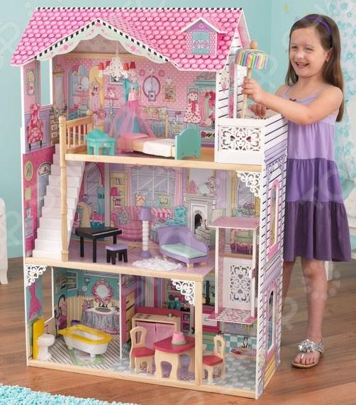 Домик кукольный KidKraft «Барби Аннабель» кукольный домик kidkraft кукольный домик для барби амелия с мебелью
