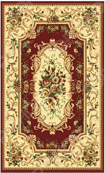 Ковер прямоугольный Kamalak tekstil «Райский сад». Цвет: бордовый - артикул: 1602582