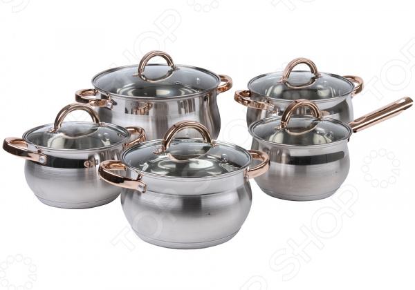 Набор посуды: кастрюли и соусник Pomi d'Oro Levita набор посуды для готовки pomi d oro terracotta conveniente set