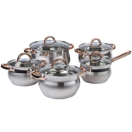 Купить Набор посуды: кастрюли и соусник Pomi d'Oro Levita. Количество предметов: 10