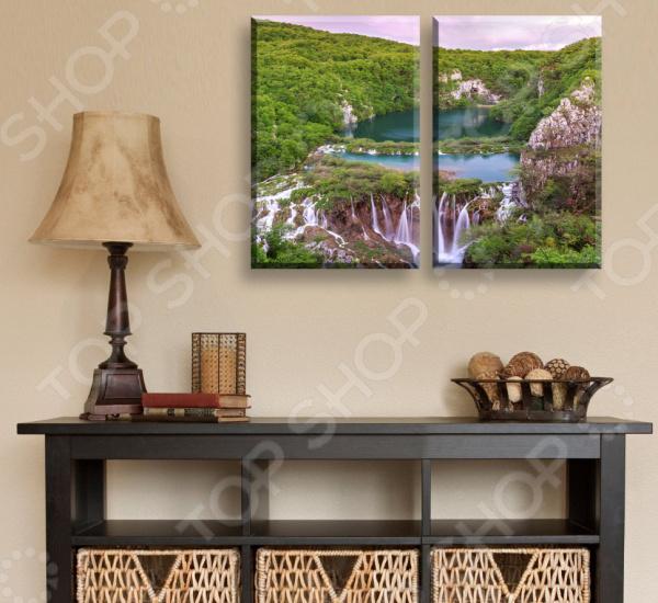 Картина модульная ТамиТекс «Горное озеро»