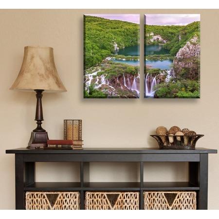 Купить Картина 2-модульная ТамиТекс «Горное озеро»