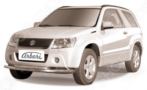 Защита переднего бампера Arbori двойная для Suzuki Grand Vitara 3 Dr, 2008-2012 переходная рамка metra 95 7953 для suzuki grand vitara 05 крепеж