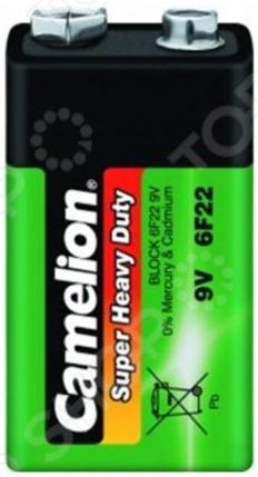 Батарейка солевая Camelion 6F22 BL-1 батарейка крона camelion 6f22 green 6f22 bp1g 6f22 1bl