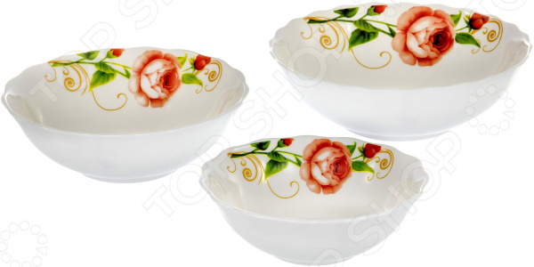 Набор салатников OlAff «Конфетти»