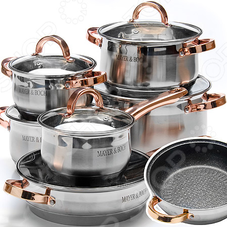 Набор посуды Mayer&Boch MB-26705 сковорода d 24 см mayer and boch mb 22477