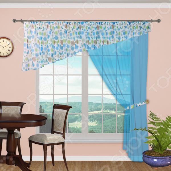 Комплект легких штор левосторонний Синель «Бриз» 142 комплект легких штор правосторонний синель карамель 148