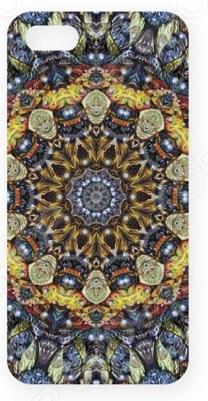 Чехол для IPhone 5 Mitya Veselkov «Сине-желтый калейдоскоп» стоимость