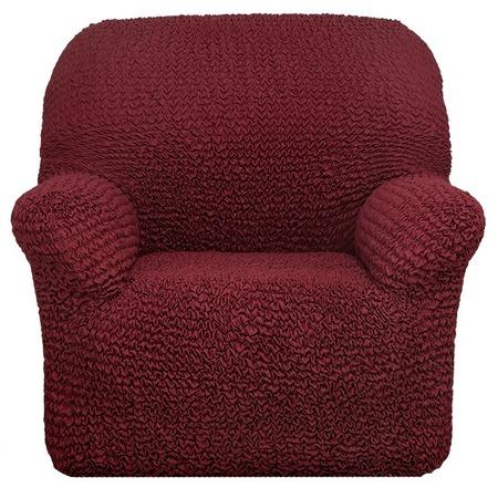Купить Натяжной чехол на кресло Еврочехол «Микрофибра. Бордо»