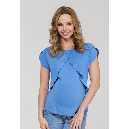 Купить Блузка для беременных Nuova Vita 1329.1. Цвет: голубой