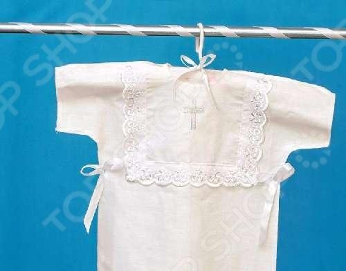 Рубашка крестильная Арго 1717969 с крестиком крестильная одежда арго уголок с оборочкой 009 2н