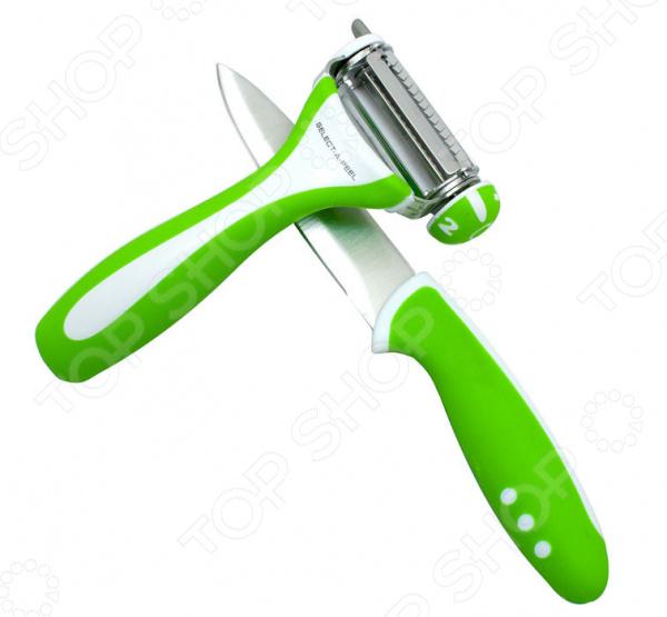 Набор: овощечистка и нож Erringen 13670/GRN винтовой нож для картофеля