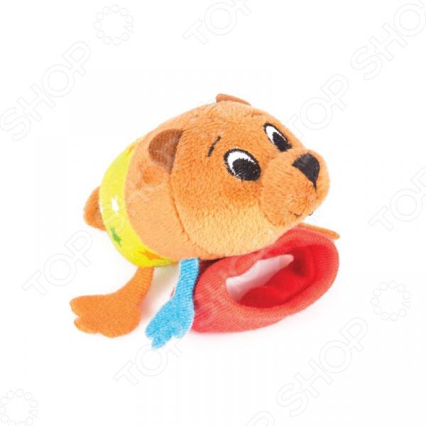 Игрушка-погремушка на ручку Happy Snail «Медвежонок Берни» игрушка погремушка мякиши медвежонок колечко