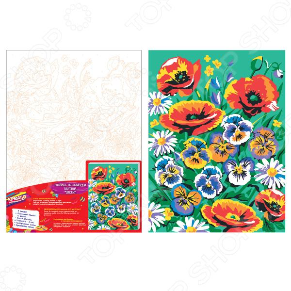 Набор для росписи холста по номерам Креатто «Цветы»