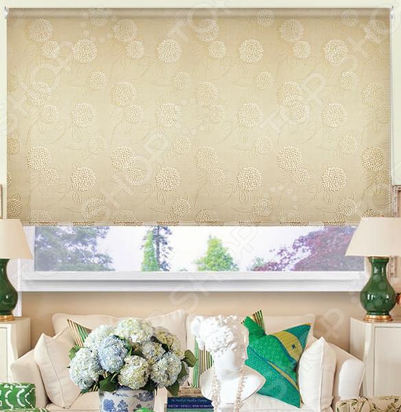 Рулонная штора Эскар «Гортензия». Цвет: кофейный
