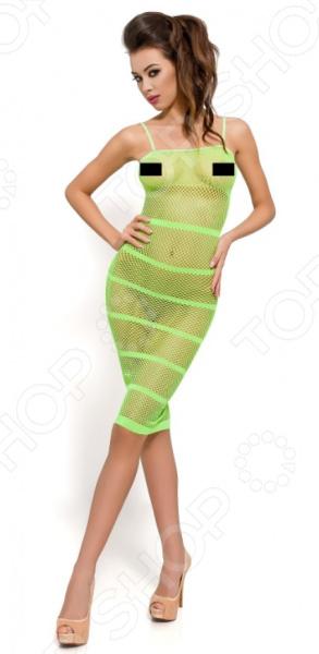 Платье-сетка Passion BS033 платье сетка candy girl полосатое os