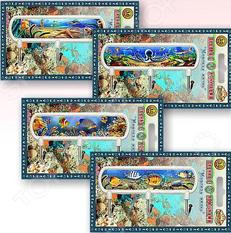 Планка с крючками Мультидом «Морская жизнь» SM27-31. В ассортименте крючки настенные мультидом планка 5 крючками ромашка