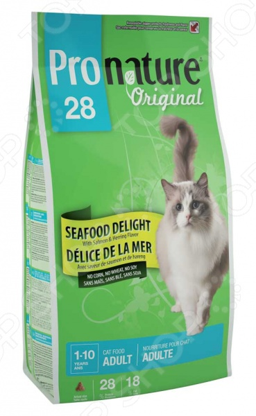Корм сухой для кошек Pronature Original 28 Seafood Delight