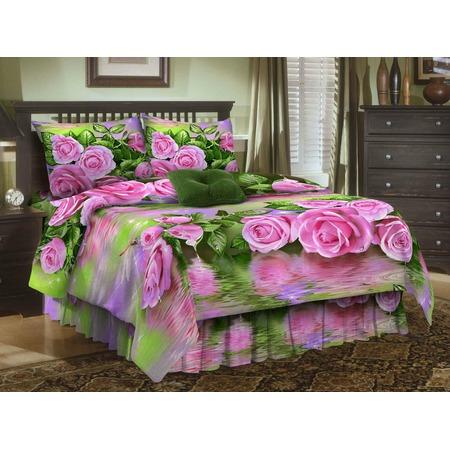 Купить Комплект постельного белья Диана «Розы на воде». 1,5-спальный