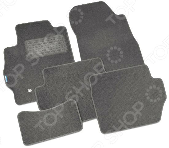 купить Комплект ковриков в салон автомобиля Novline-Autofamily Mazda CX-5 2011 внедорожник. Цвет: серый недорого