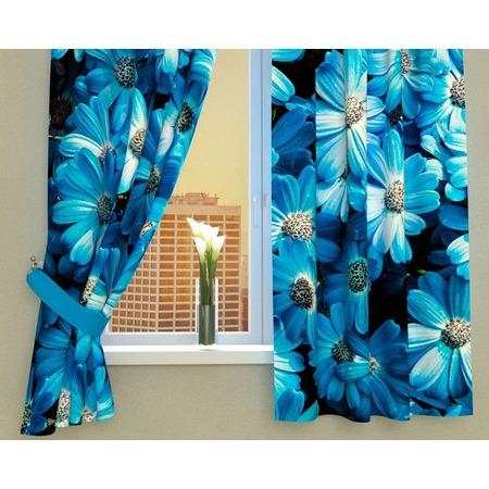 Купить Фотошторы Сирень «Букет из голубых цветов»