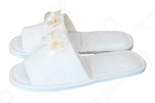 Тапочки с открытым носком Dream Time SL-158. Цвет: белый