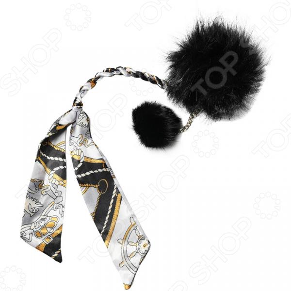 Помпон для сумки Laura Amatti «Роскошный Пион» Аксессуар Laura Amatti Роскошный Пион /Черный