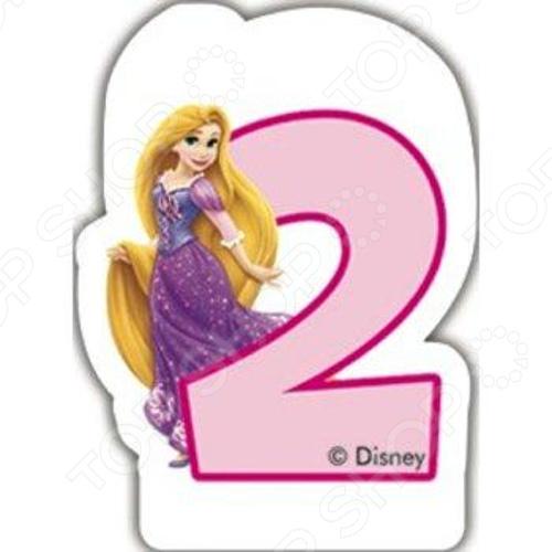 Свечка объемная Procos «Принцессы» 2 года
