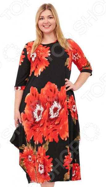 Платье Laura Amatti «Королева времени». Цвет: красный платье laura amatti нежная радость цвет бордовый