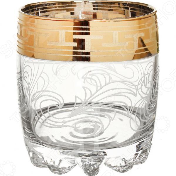Набор стаканов для виски Гусь Хрустальный «Греческий Узор» с фигурным дном