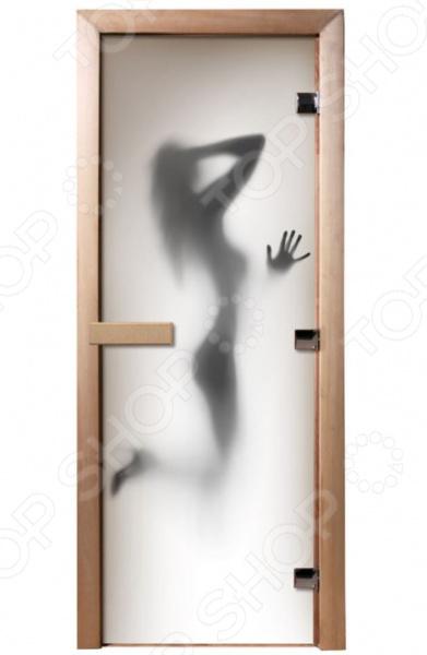 Дверь для бани с фотопечатью Банные штучки «Девушка» 32680