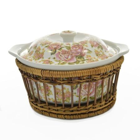 Купить Кастрюля керамическая Mayer Boch «Домашний очаг». Рисунок: розы. Объем: 1 л