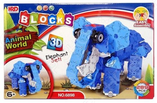 Конструктор 3D Наша Игрушка «Слон»