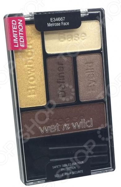 Набор теней для глаз Wet n Wild Melrose Face. Цветовая гамма: золотистая