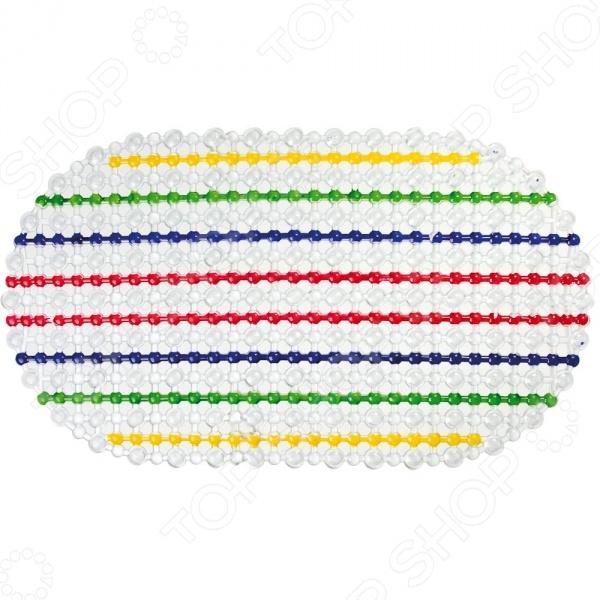 Коврик против скольжения овальный Vortex «Радуга» коврик дорожка vortex zig zag против скольжения цвет черный 5 мм 0 9 х 10 м