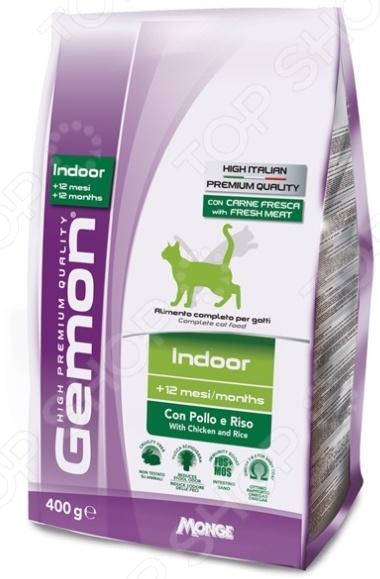 Корм сухой для домашних кошек Gemon Indoor Con Pollo e Riso With Chiken and Rice комбинезон pollo pollo mp002xc0032p