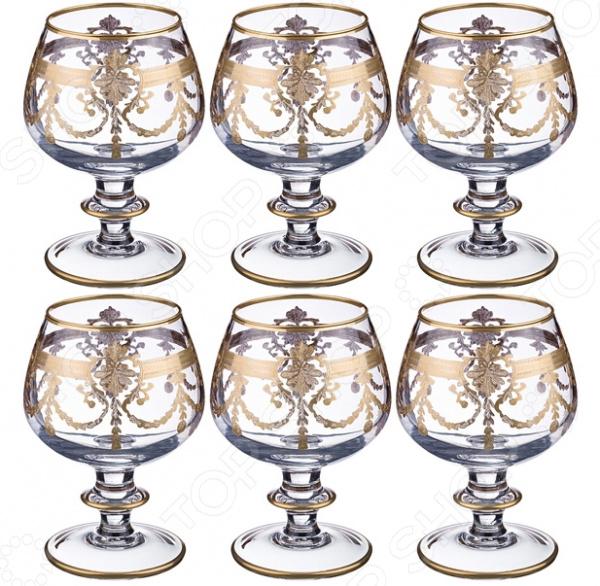 Набор бокалов для коньяка Same 103-564 набор бокалов crystalex ангела оптика отводка зол 6шт 400мл бренди стекло