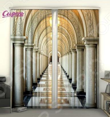 Фотошторы Сирень «Коридор с колоннами»