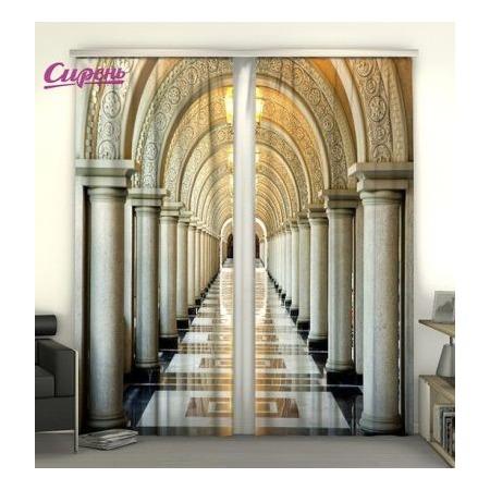 Купить Фотошторы Сирень «Коридор с колоннами»