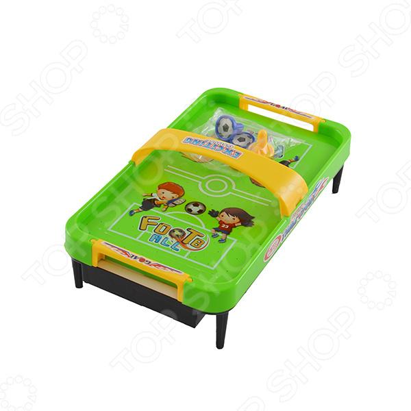 Аэрофутбол настольный Shantou Gepai увлекательная игра, которая не оставит никого равнодушным. Игра позволит устроить спортивное соревнование 2-х или нескольких игроков. Игра ведется до тех пор, пока не наберется необходимое количество очков. В набор входит поле, 2 мяча и 2 бита. Игровое поле ограничено бортиком, чтобы мячи не улетали. Игра сопровождается звуковыми и световыми эффектами. Тренирует ловкость, логическое мышление и точность. Работает от батареек, которые необходимо приобрести отдельно.