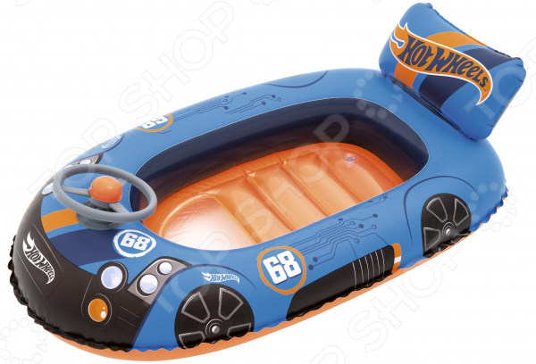 цена на Лодка надувная детская Bestway Hot Wheel