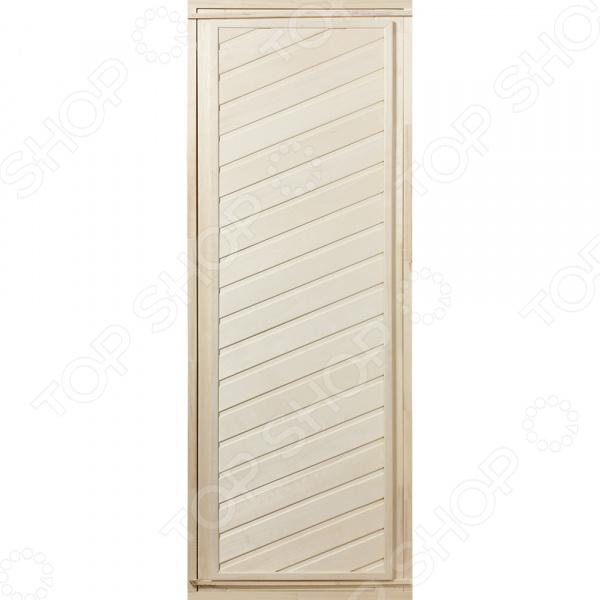 Дверь для бани глухая диагональная Банные штучки 03684