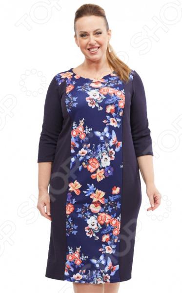 Платье Лауме-стиль «Райский сад». Цвет: синий