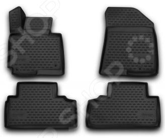 цена на Комплект 3D ковриков в салон автомобиля Novline-Autofamily KIA Carens 2013 5