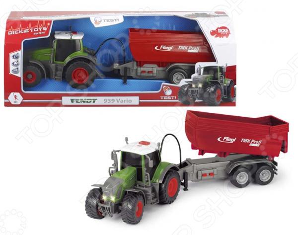 Машинка со светозвуковыми эффектами Dickie Fendt «Трактор с прицепом» трактор игрушечный bruder fendt favorit 926 vario