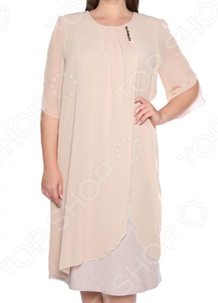 Платье Pretty Woman «Волшебный блеск». Цвет: бежевый блуза pretty woman волшебный взгляд цвет зеленый