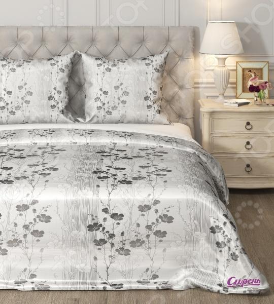 Комплект постельного белья Сирень «Классические цветы». Семейный