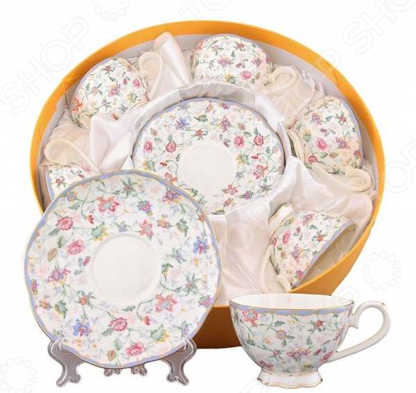 Чайный набор Elan Gallery «Цветочный каприз» elan gallery чайник цветочный каприз