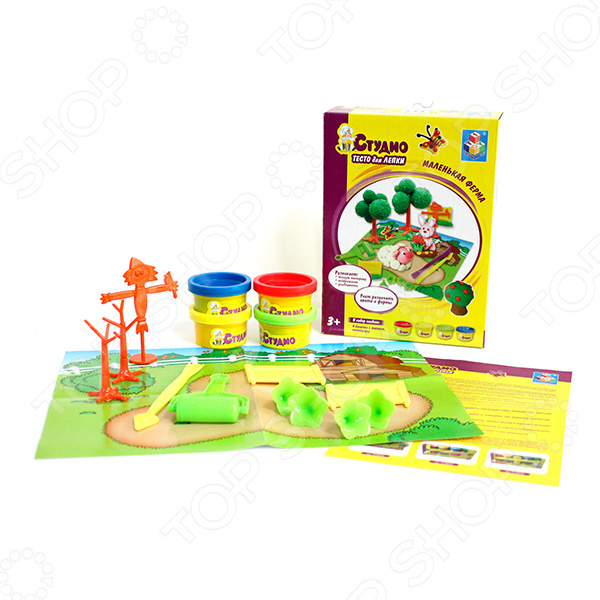 Набор теста для лепки 1 Toy «Маленькая ферма»