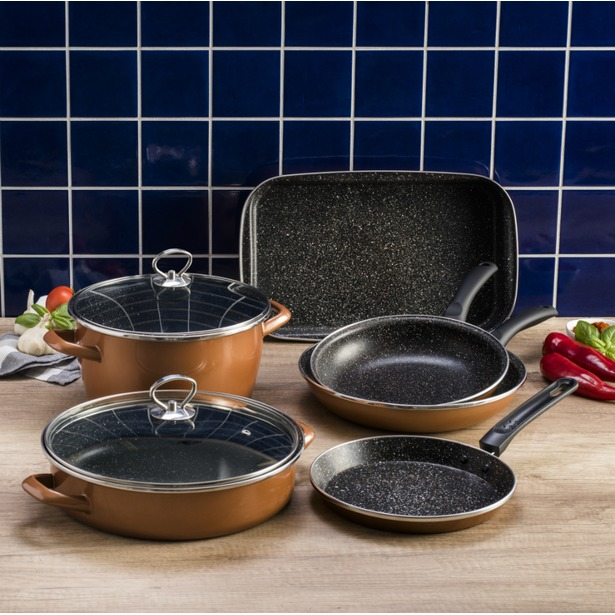 фото Набор кухонной посуды Delimano «Сила Камня» Люкс